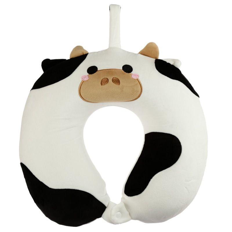 Koe/koeien nekkussen met ophanglus voor kinderen