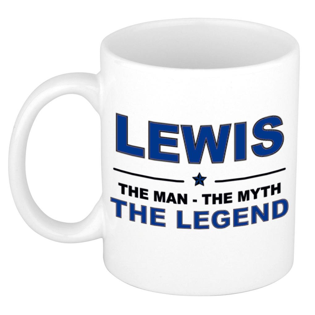 Lewis The man, The myth the legend bedankt cadeau mok/beker 300 ml keramiek