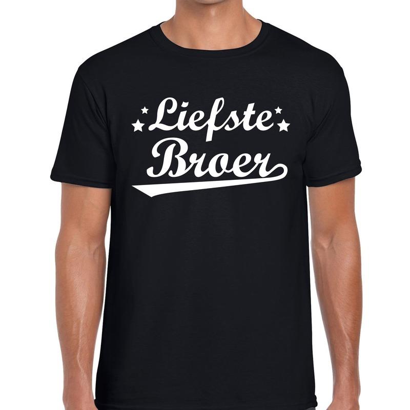 Liefste broer cadeau t-shirt zwart heren