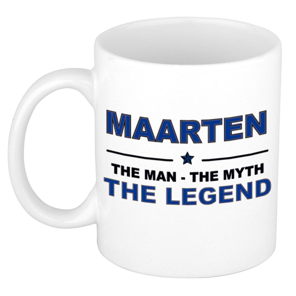 Maarten The man, The myth the legend bedankt cadeau mok/beker 300 ml keramiek