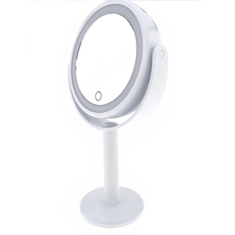 Make-up spiegel 2-zijdig met dimbare led 27 x 17 x 11,5 cm