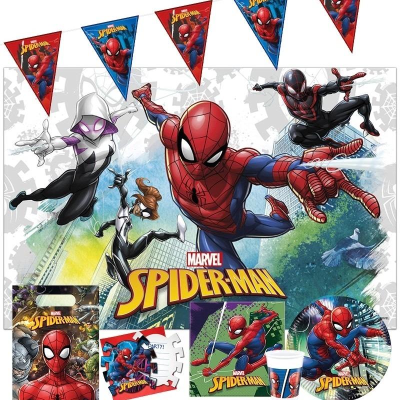 Marvel Spiderman kinderfeest tafeldecoratie pakket 2-6 personen