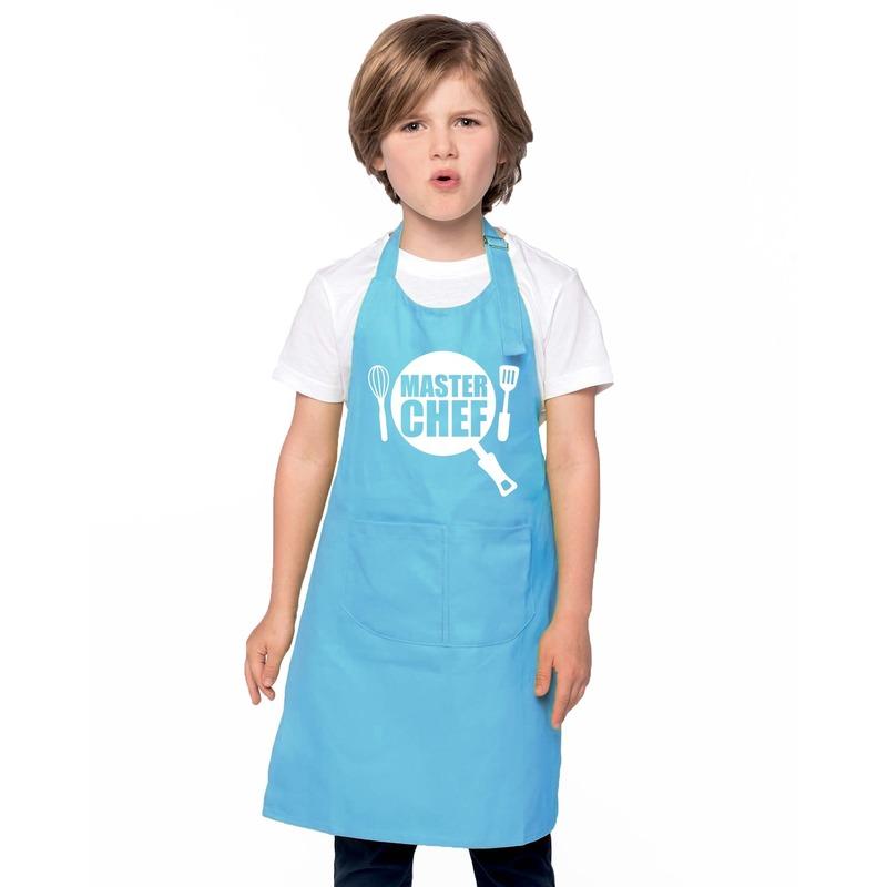 Master chef keukenschort blauw kinderen