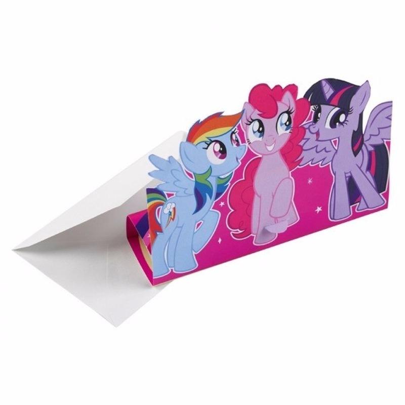 My Little Pony uitnodigingen 8x stuks