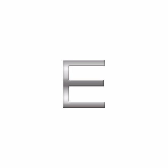 Namen stickers letter E van 2,5 cm