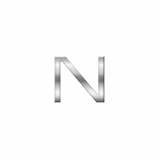 Namen stickers letter N van 2,5 cm