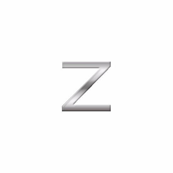 Namen stickers letter Z van 2,5 cm