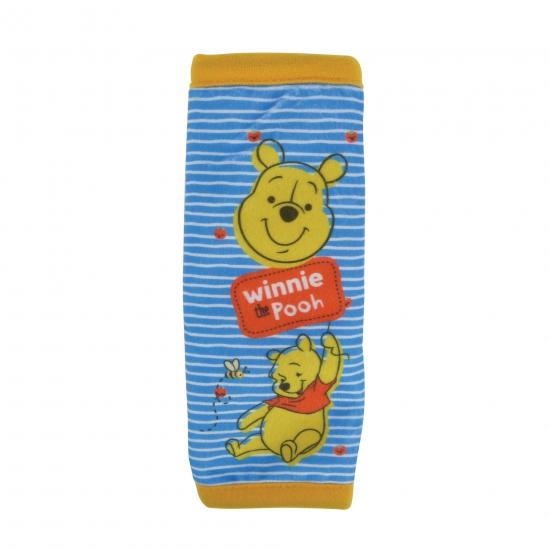 Pluche Winnie de Poeh auto gordelhoes/gordelbeschermer 29 cm