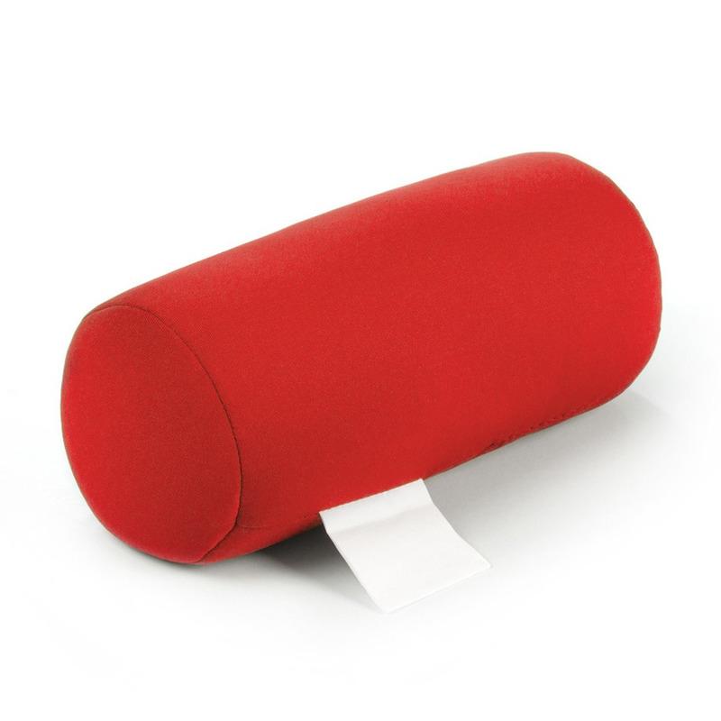 Reis kussentje voor kinderen rood 21 cm