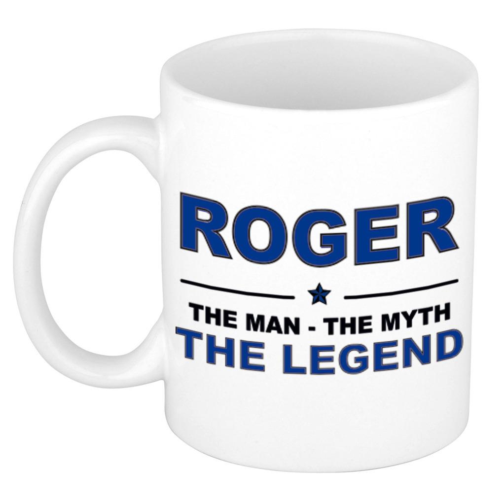 Roger The man, The myth the legend bedankt cadeau mok/beker 300 ml keramiek