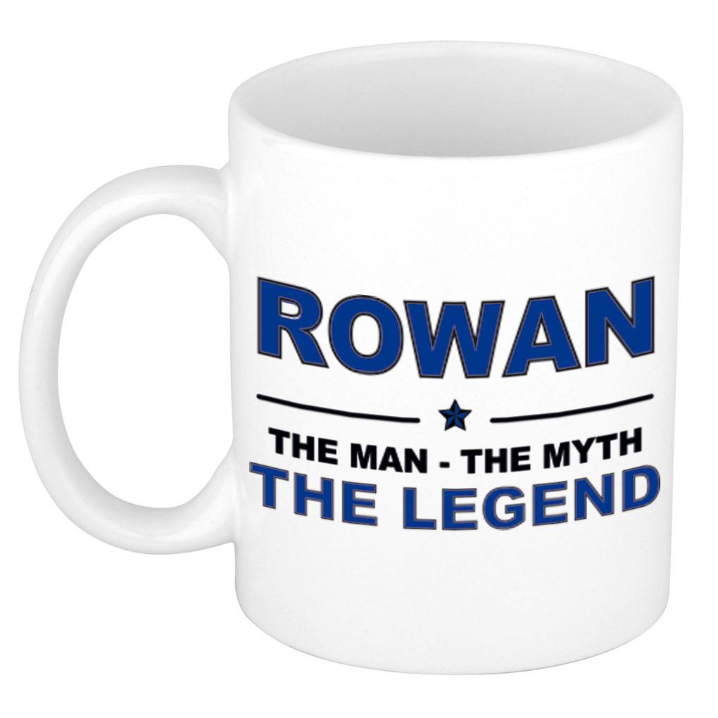 Rowan The man, The myth the legend bedankt cadeau mok/beker 300 ml keramiek