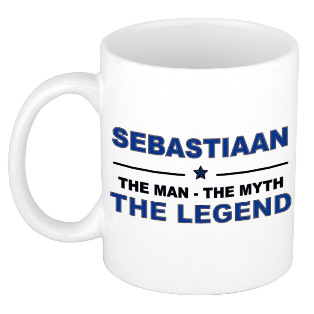 Sebastiaan The man, The myth the legend bedankt cadeau mok/beker 300 ml keramiek