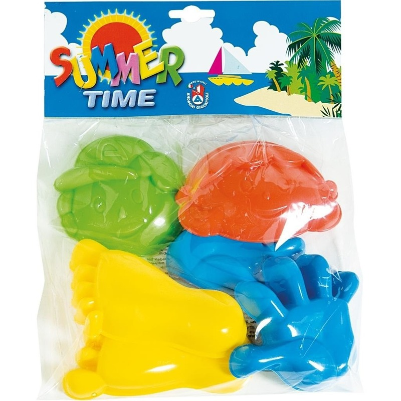 Speelgoed strand zandvormen/figuren 6 delig