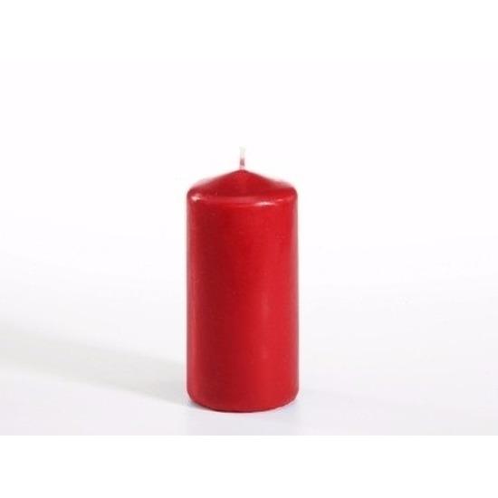 Stompkaarsen rood 10 cm 16 branduren