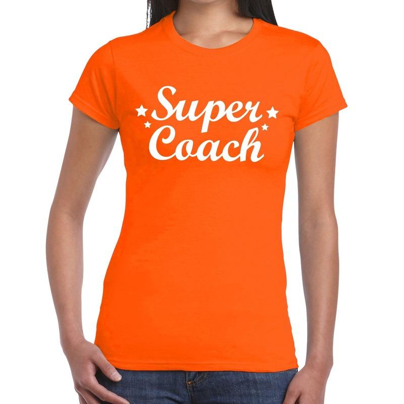 Super Coach cadeau t-shirt oranje voor dames