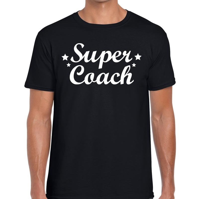 Super Coach cadeau t-shirt zwart voor heren