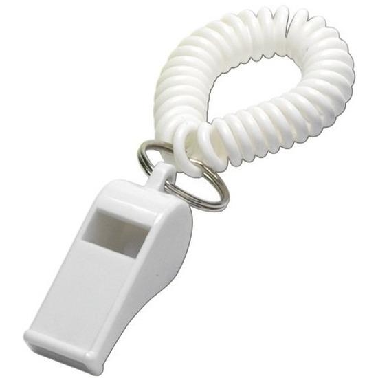 Wit fluitje aan polsbandje